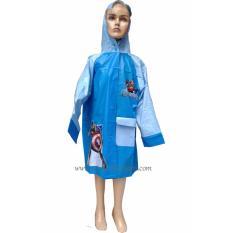 Jas Hujan Karakter Anak - Terusan dengan Tempat Tas Punggung