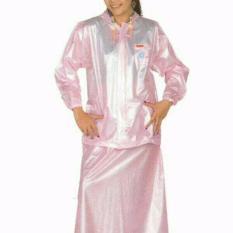 Jas hujan motor wanita cewe rok kerudung pink tiger