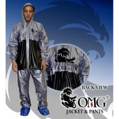 Jas Hujan OMG Set Jaket & Celana 100% Waterproof seperti GMA ASV Axio