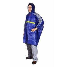Jual Jas Hujan Ponco Lengan Celana Jas Hujan Premium Getz Biru Indoplast Di Jawa Timur