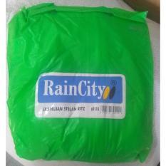 Jas Hujan RainCity Transparant - Jaket Celana Rain City - Hijau