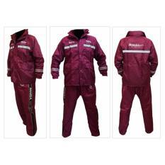Promo Jas Hujan Rosida 882 Sporty Edition Merah Marun Akhir Tahun