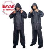 Spesifikasi Jas Hujan Stelan Baju Dan Celana Mantel Hujan Jaket Waterproof Original Hitam Lengkap Dengan Harga