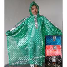 Harga Jas Hujan Transparan Polkadot Ponco Elmondo 713 Online