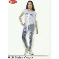 Jual Jas Hujan Transparan Setelan Baju Celana Elektroma Asli