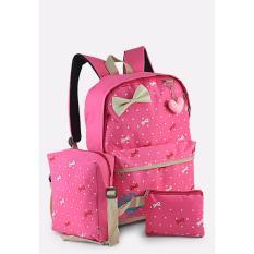 Java Seven UNG 015 Tas ransel/2in1 perempuan – bahan 300 dinier - Cantik & lucu (pink)