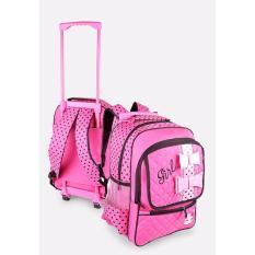 Review Toko Java Seven Ung 905 Tas Troli Perempuan Bahan 300 Dinier Cantik Lucu Pink Online