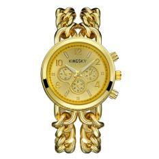 Jaywog Baru Guangzhou Watch Grosir Dekorasi Tiga Eye Watch Cepat Menjual Melalui Menjual Produk Cowboy Chain (GoldGold)