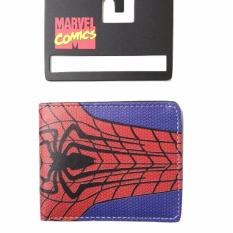 Jual Jcf Dompet Anak Laki Fashion Branded Pu Leather Import Lipat Bagus Spiderman Red Blue Branded