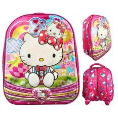 JCF Hello Kitty 6Dimensi Timbul Import Tas Ransel Anak Sekolah TK