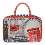 Daftar Harga Jcf Tas Anak Dan Wanita Dewasa Fashion Travel Bag Kanvas Kotak Premium Paris Telepon Merah Jcf
