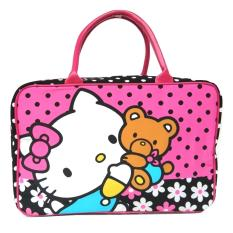 Jcf Tas Anak Fashion Travel Bag Kanvas Kotak Hellokiti Premium Original