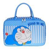Jcf Tas Anak Fashion Travel Bag Kanvas Kotak Premium Doraemon Asli