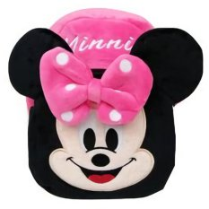JCF Tas Fashion Anak Ransel Boneka 2 Restleting Import Yelvo Halus - Mini Mouse Pink