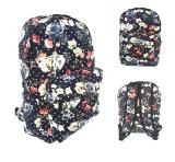 Tips Beli Jcf Tas Ransel Fashion Branded Anak Sekolah Remaja Dewasa Kanvas Import Flowery Floral Black