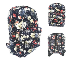 Review Jcf Tas Ransel Fashion Branded Anak Sekolah Remaja Dewasa Kanvas Import Flowery Floral Black Terbaru