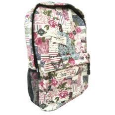 Jual Jcf Tas Ransel Fashion Branded Anak Sekolah Remaja Dewasa Kanvas Import Flowery Pink Antik