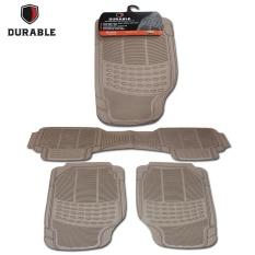 JEEP HUMMER H3 DURABLE Karpet Karet PVC 3 Pcs Comfortable Universal Beigie