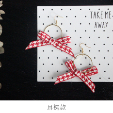 Jual Jepang Dan Korea Selatan Pita Geometris Lingkaran Bulat Anting Hook Anting Branded