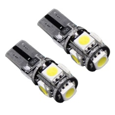 Jetting Buy 2x CANBUS T10 194 168 W5W 5050 5 LED SMD Putih Sisi Mobil Lampu