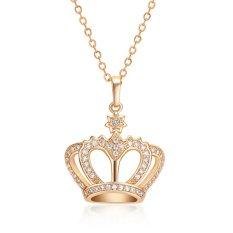 Jetting Buy Wanita Perhiasan Kristal Mahkota Putri Ratu Emas Liontin Kalung Rantai