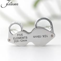 Jewelers Loupe Magnifier 20x 10x Kaca Pembesar Triplet Ganda Lensa Lensa Baru-Internasional