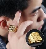 Promo Jewelry 18 K Emas Berlapis Ukiran Cincin Properti Di Cina Adjustable Di Tiongkok