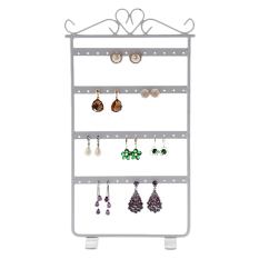Jewelry Display Stand Holder Anting Gantungan Baju 48 Rack Organizer Showcase Putih 15 Cm * 29 Cm/5.9