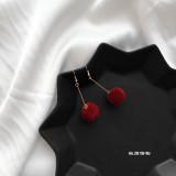 Diskon Jewelry Imut Mewah Bola Bulu Anting Branded
