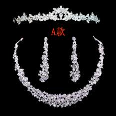 Beli Sederhana Berlian Menikah Temperamen Gaun Kalung Anting Pakai Kartu Kredit
