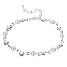 Jiayiqi Buram Manik-Manik Perak Pesona Gelang Perhiasan