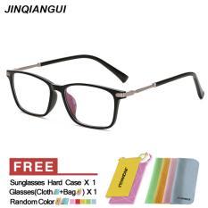 Tips Beli Jinqiangui Fashion Glsses Bingkai Rectangle Kacamata Brightblack Bingkai Kacamata Bingkai Plastik Polos Untuk Miopia Pria Kacamata Optik Kacamata Intl