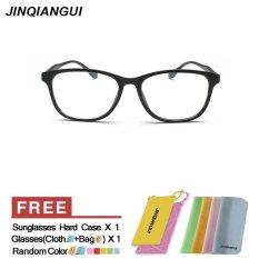 Harga Jinqiangui Kacamata Bingkai Pria Persegi Panjang Kacamata Hitam Hapus Lensa Fashion Termahal