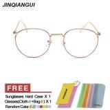Diskon Jinqiangui Kacamata Bingkai Pria Bulat Kacamata Merah Muda Hapus Lensa Fashion Hong Kong Sar Tiongkok