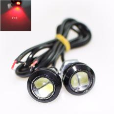 JMS - 1 Pair/2 Biji Lampu LED Motor / Mobil Eagle Eye DRL Daytime 2 SMD 5630 18MM Red