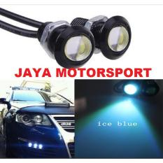 JMS - 1 Pair/2 Biji Lampu LED Motor / Mobil Mata Elang / Eagle Eyes DRL Daytime 3W 18MM Ice Blue