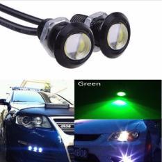 JMS - 1 Pair/2 Biji Lampu LED Motor / Mobil Mata Elang / Eagle Eyes DRL Daytime 3W 18MM Green