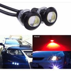 JMS - 1 Pair/2 Biji Lampu LED Motor / Mobil Mata Elang / Eagle Eyes DRL Daytime 3W 18MM Red