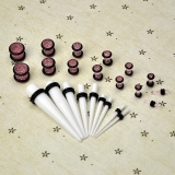 Review Jo In 23 Pc Ear Taper Plug Kit 14G 00G 1 6Mm 10Mm Gauges Expander Set Stretchers Pink Oem Di Tiongkok