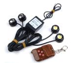 Review Jo Dalam 4 Pcs Putih Led Eagle Eye Knight Night Rider Scanner Pencahayaan Drl Lampu Pendar Lamp Remote Putih Di Tiongkok