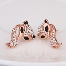 Jo di E758 Grosir Nikel Gratis Antiallergic 18 K Real Gold Berlapis Anting-Anting untuk Wanita Baru Perhiasan Fashion (Mawar Emas)-Intl