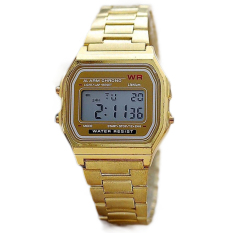 Review Jo Dalam Emas And Perak Elektronik Some Perhiasan Jam Digital With Cahaya Led Clock Emas Tiongkok
