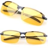 Jual Jo Di Terpolarisasi Mengemudi Pria Berkacamata Kuning Lensa Night Vision Kacamata Mengemudi Mengurangi Silau Hitam Original