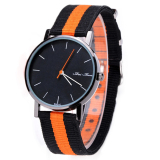 Jo Pada Wanita Pria Watch Quartz Watches Militer Bendera Table Casual Wanita Canvas Nylon Fabric Casual Analog Watches Multicolor Intl Murah