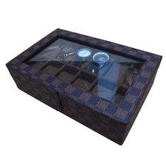 Model Jogja Craft Damier Watch Box Tempat Jam Kotak Jam Tangan Isi 12 Terbaru