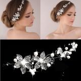 Harga Jo In Fashion Wanita Manik Manik Berlian Imitasi Bunga Pengantin Bridal Pernikahan Partai Potongan Rambut Bando Oem Online