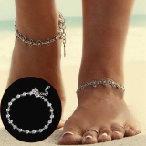 Diskon Jo In Women Anklet Summer Beach Jewelry Silver Flower Pendant Ankle Bracelet Intl Oem