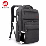 Review Toko Joy Usb Pengisian Fabric Laptop Ransel Cocok Untuk 12 15 6 Laptop Grey Intl