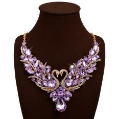 Harga Joy Women Swans Bertatahkan Permata Collarbone Chain Oem Online