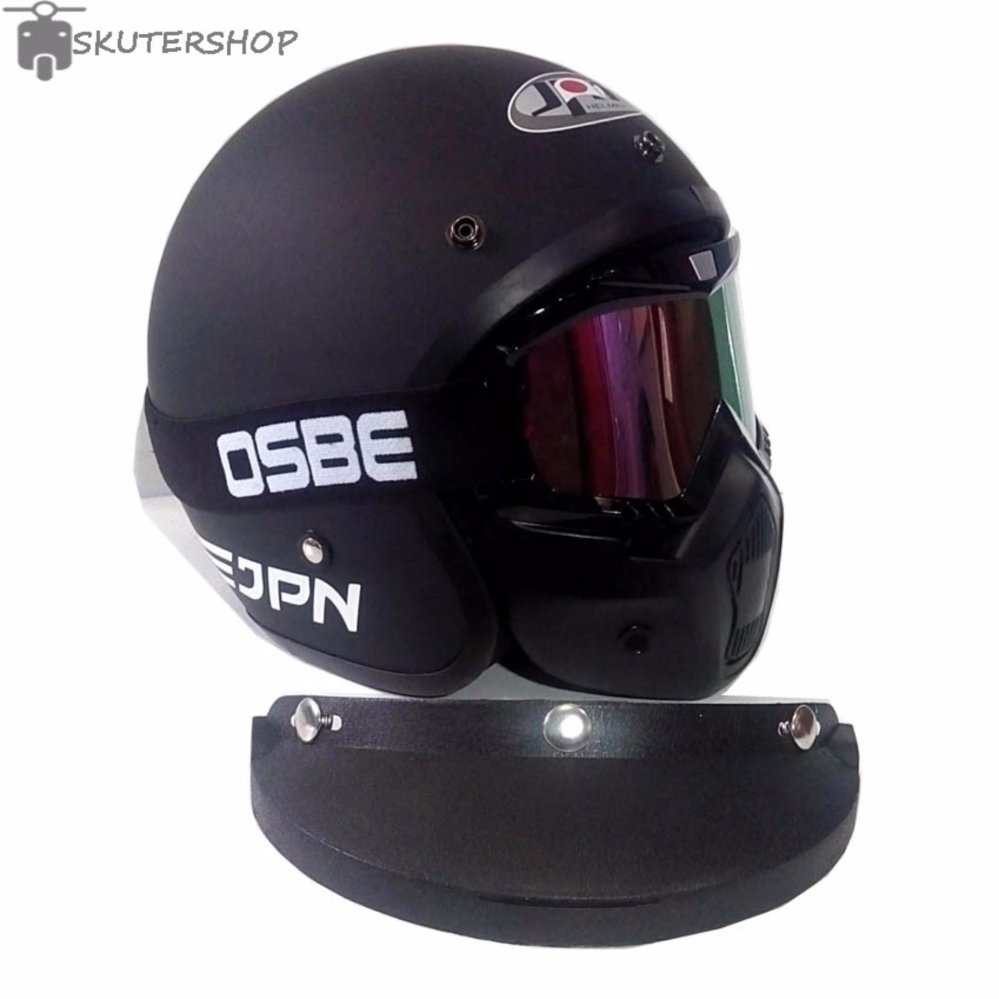 Daftar Harga Jpn Helm Momo Vintage With Osbe Goggle Mask Retro Masker Modular Alien Paint Ball Air Soft Gun Kacamata  Arc Klasik Jap Style Motocross Shark Raw Visor Rainbow Doff Plus Pet Hitam